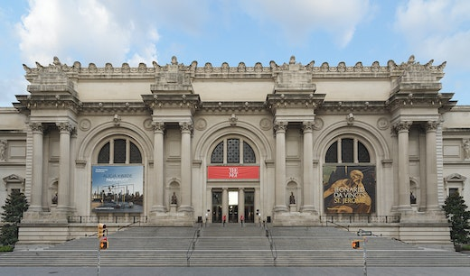 Installation view of The Seated I, II, III, and IV, 2019 for The Facade Commission: Wangechi Mutu, The NewOnes, will free Us, 2019.