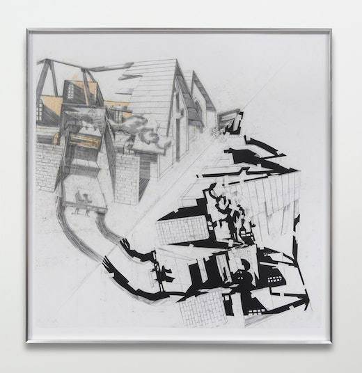 """Edgar Arceneaux """"A Number of Intersections (A Collision of Belief Systems #1),"""" 2015"""