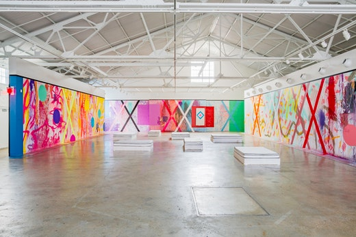 """Sarah Cain """"The Imaginary Architecture of Love,"""" 2015 at CAM Raleigh, Raleigh, NC Installation view"""