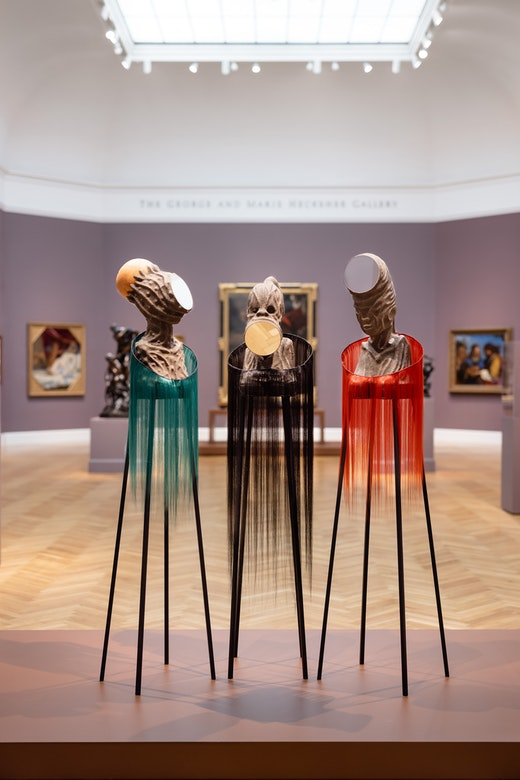 """""""Wangechi Mutu: I Am Speaking, Are You Listening"""" at the Legion of Honor museum in San Francisco."""