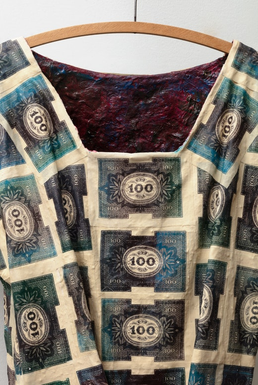 "Liz Glynn ""Panic Dress,"" 2020 (detail)"
