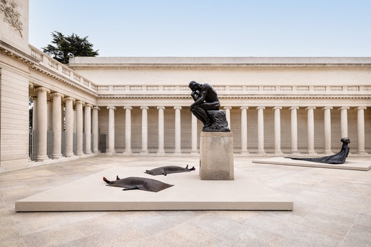 """""""Installation view from Wangechi Mutu: I Am Speaking, Are You Listening?, Legion of Honor, San Francisco, 2021."""