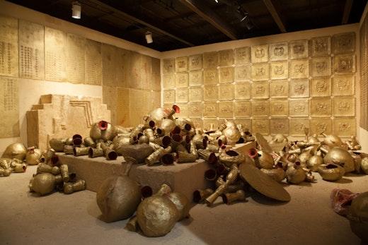 RANSOM ROOM:(Stage II: Accumulation), 2014 SculptureCenter, Installation view 17 x 22 x 10 feet