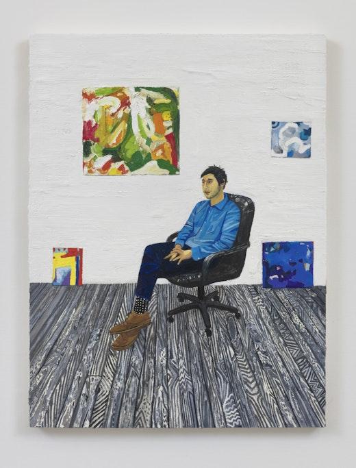 "Raffi Kalenderian ""Eric Palgon in the studio,"" 2019"