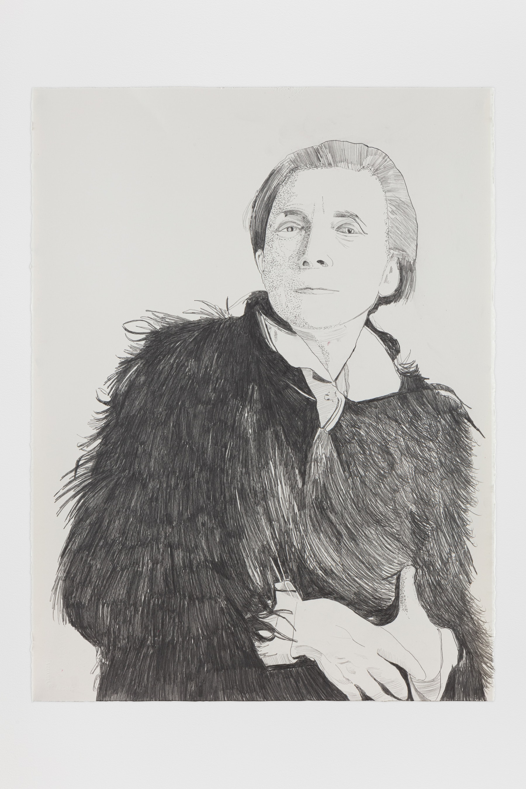 "Whitney Bedford ""Louise Bourgeois,"" 2020 Graphite on Arches Paper 30 x 22"" [HxW] (76.2 x 55.88 cm) Inventory #BED389 Courtesy of the artist and Vielmetter Los Angeles"