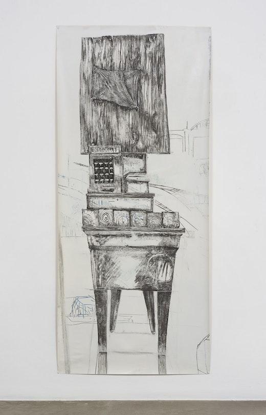 "Edgar Arceneaux ""Migrant's Totem I,"" 2017"