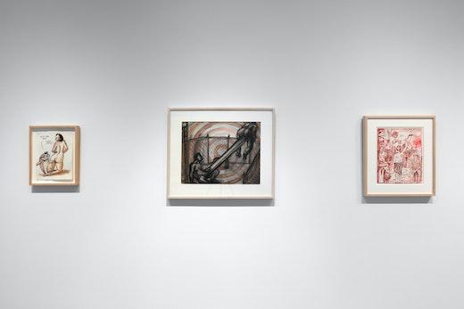 """Nicole Eisenman and Keith Boadwee,"" installation view"