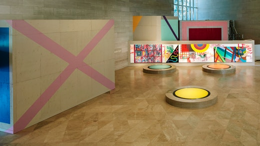 """Sarah Cain, """"My favorite season is the fall of the patriarchy,"""" installation view."""