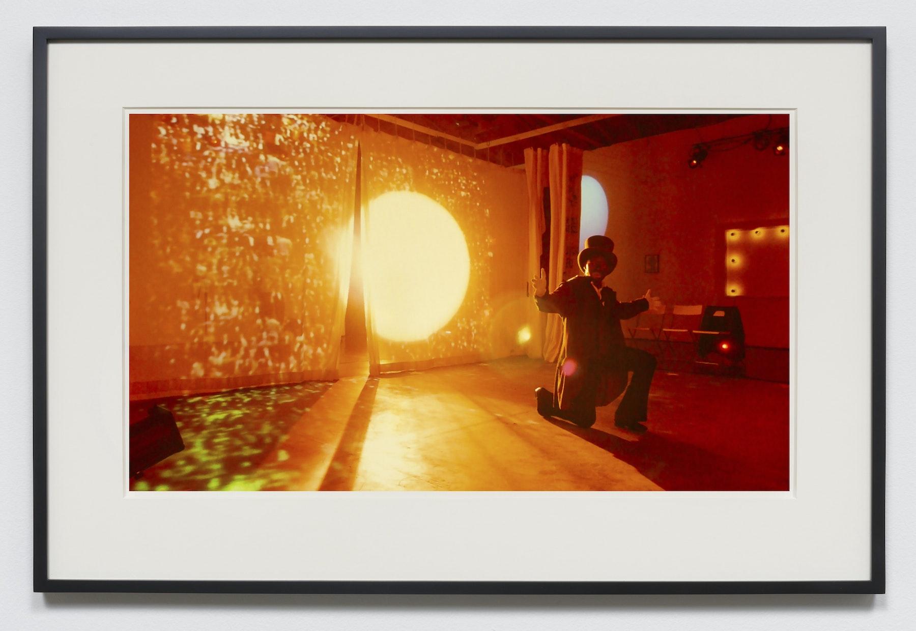 "Edgar Arceneaux ""Sunset,"" 2015-2020 Photographic print 20 x 36"" [HxW] (50.8 x 91.44 cm) unframed, 23.5 x 39.5 x 2"" [HxWxD] (59.69 x 100.33 x 5.08 cm) framed Edition 1 of 5, 2 AP Inventory #ARC627.01 Courtesy of the artist and Vielmetter Los Angeles"
