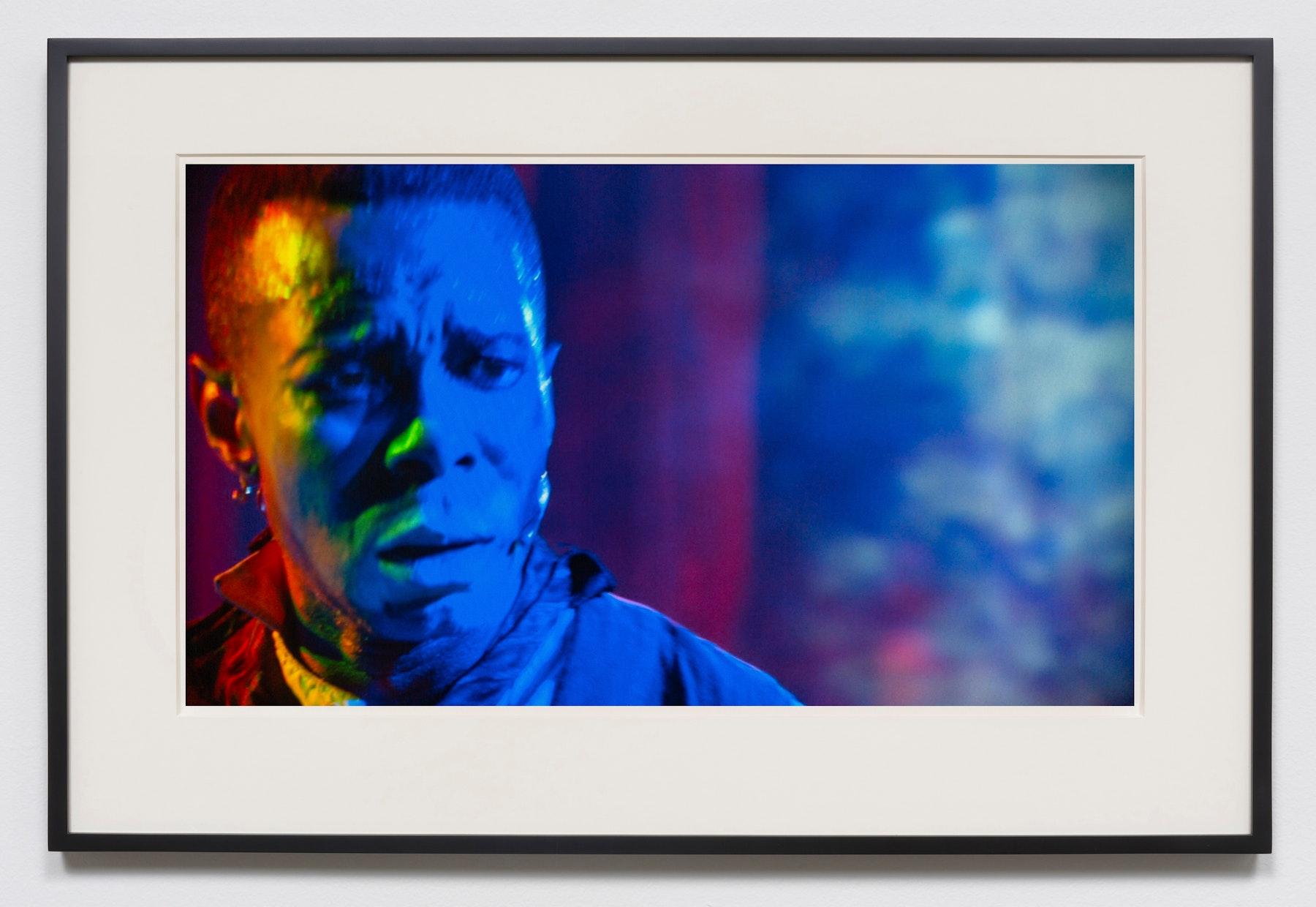 "Edgar Arceneaux ""The Natural Born Gambler,"" 2015-2020 Photographic print 20 x 36"" [HxW] (50.8 x 91.44 cm) unframed, 23.5 x 39.5 x 2"" [HxWxD] (59.69 x 100.33 x 5.08 cm) framed Edition 1 of 5, 2 AP Inventory #ARC629.01 Courtesy of the artist and Vielmetter Los Angeles"