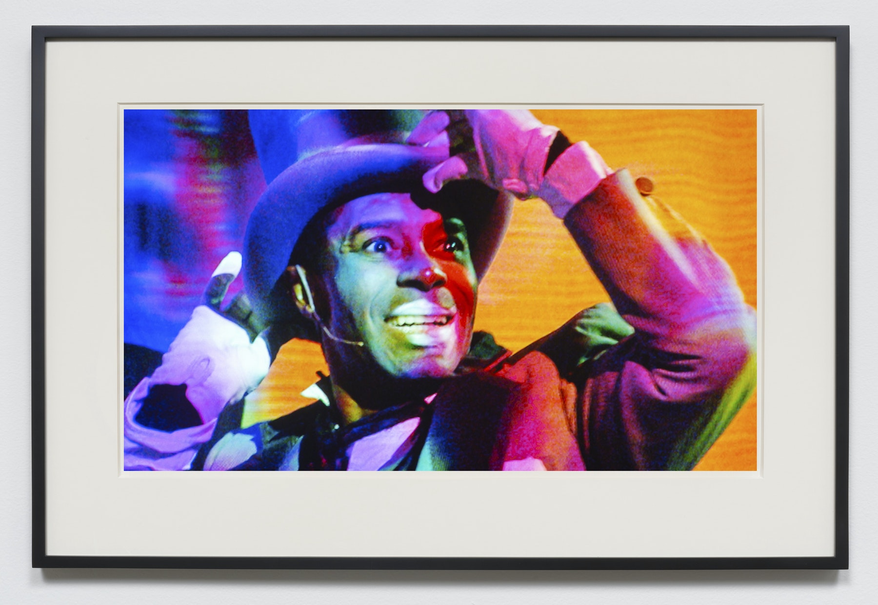 "Edgar Arceneaux ""White Light,"" 2015-2020 Photographic print 20 x 36"" [HxW] (50.8 x 91.44 cm) unframed, 23.5 x 39.5 x 2"" [HxWxD] (59.69 x 100.33 x 5.08 cm) framed Edition 1 of 5, 2 AP Inventory #ARC632.01 Courtesy of the artist and Vielmetter Los Angeles"