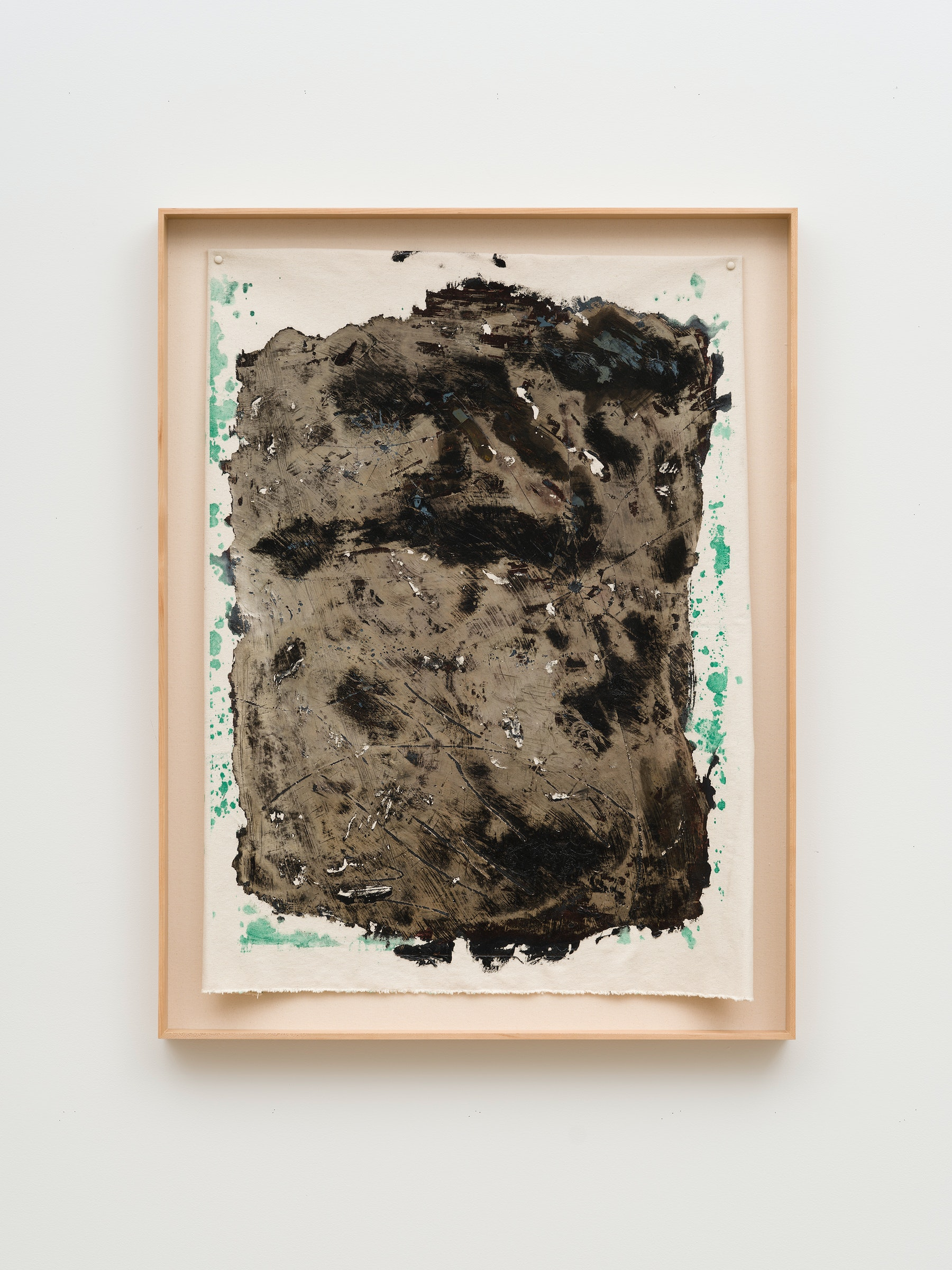 """Edgar Arceneaux """"Skinning the Mirror #4,"""" 2020 Silver nitrate, acrylic paint on canvas 48 ³⁄₄"""" x 37 ¹⁄₂"""" x 2 ³⁄₄"""" [HxWxD] (123.82 x 95.25 x 6.98 cm) framed; 40"""" x 33"""" [HxW] (101.6 x 83.82 cm) unframed Inventory #ARC637 Courtesy of the artist and Vielmetter Los Angeles Photo credit: Jeff McLane / Xiaoyue Zhang"""