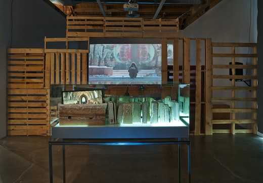 Edgar Arceneaux A Book and a Medal: Disentanglement Equals Homogenous Abstractions, 2014 Installation view