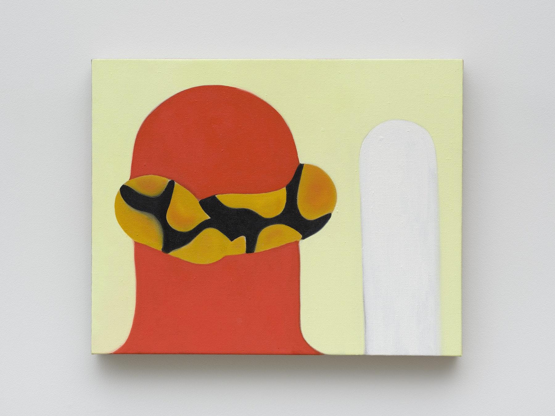 "Math Bass ""Study II,"" 2021 Oil on linen 16 x 20 x 1.5"" [HxWxD] (40.64 x 50.8 x 3.81 cm) Inventory #BAS1041 Courtesy of the artist and Vielmetter Los Angeles Photo credit: Jeff Mclane"