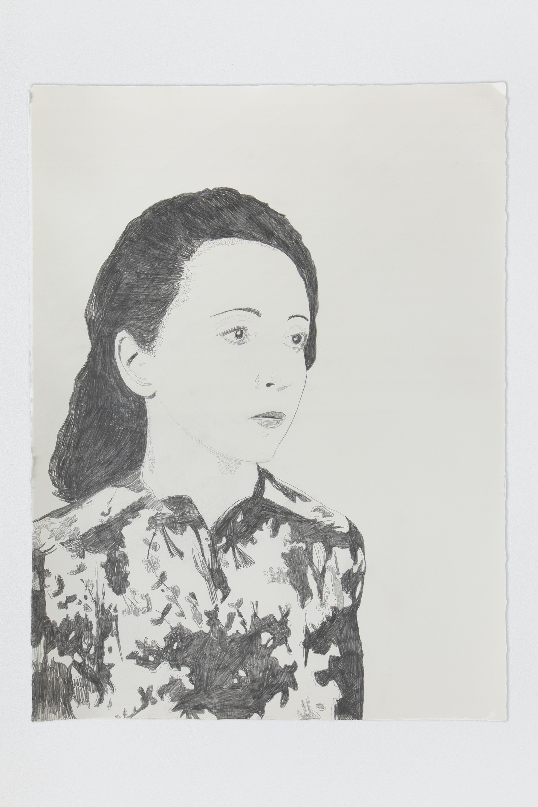 "Whitney Bedford ""Anais Nin,"" 2020 Graphite on Arches Paper 30 x 22"" [HxW] (76.2 x 55.88 cm) Inventory #BED376 Courtesy of the artist and Vielmetter Los Angeles Photo credit: Evan Bedford"