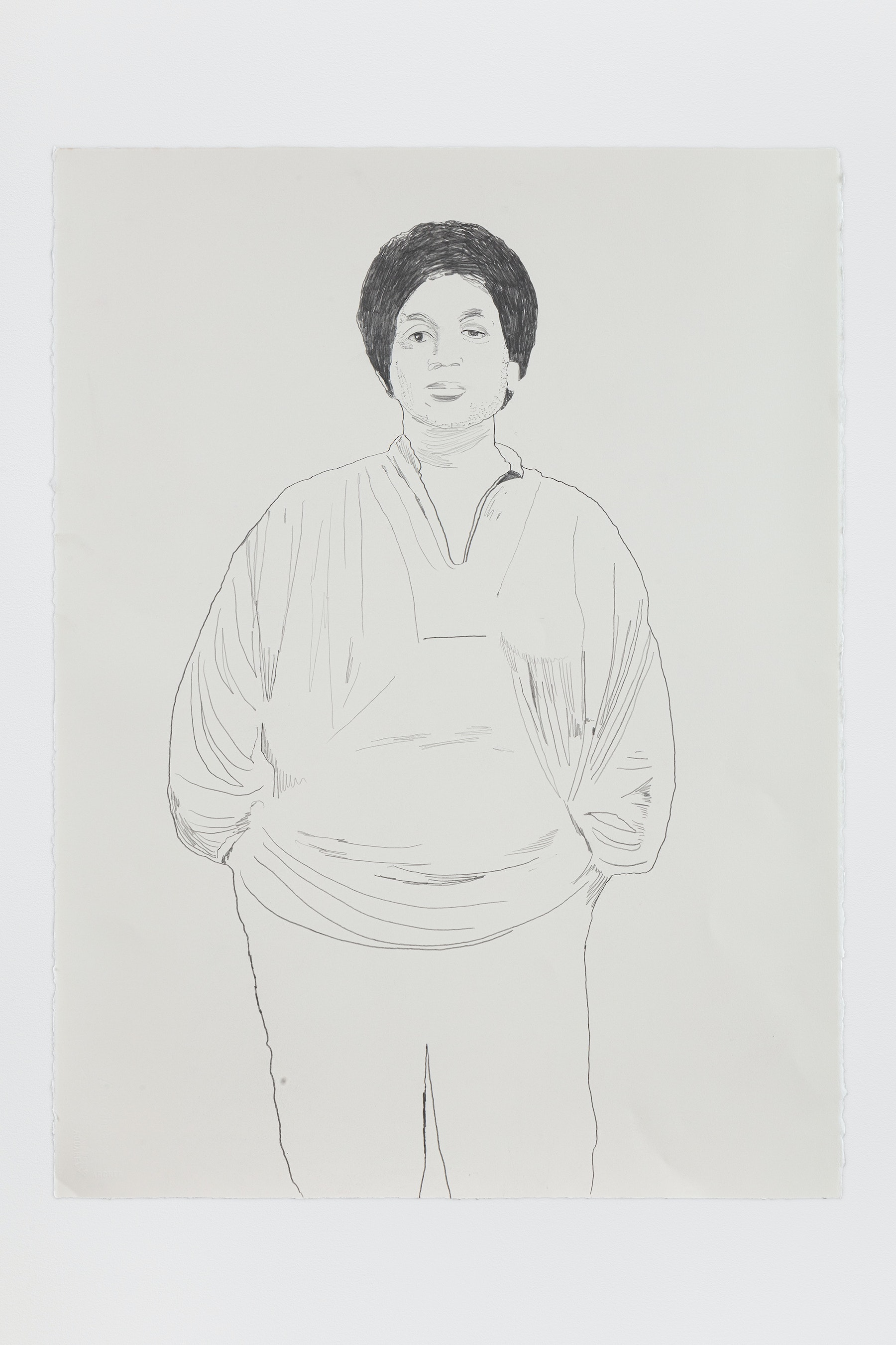 "Whitney Bedford ""Audre Lorde,"" 2020 Graphite on Arches Paper 30 x 22"" [HxW] (76.2 x 55.88 cm) Inventory #BED378 Courtesy of the artist and Vielmetter Los Angeles Photo credit: Evan Bedford"