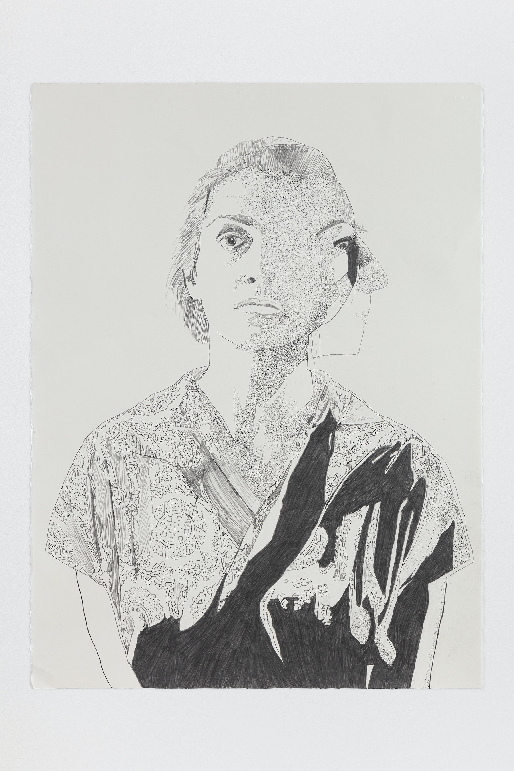 "Whitney Bedford ""Françoise Gilot,"" 2020 Graphite on Arches Paper 30 x 22"" [HxW] (76.2 x 55.88 cm) Inventory #BED381 Courtesy of the artist and Vielmetter Los Angeles Photo credit: Evan Bedford"