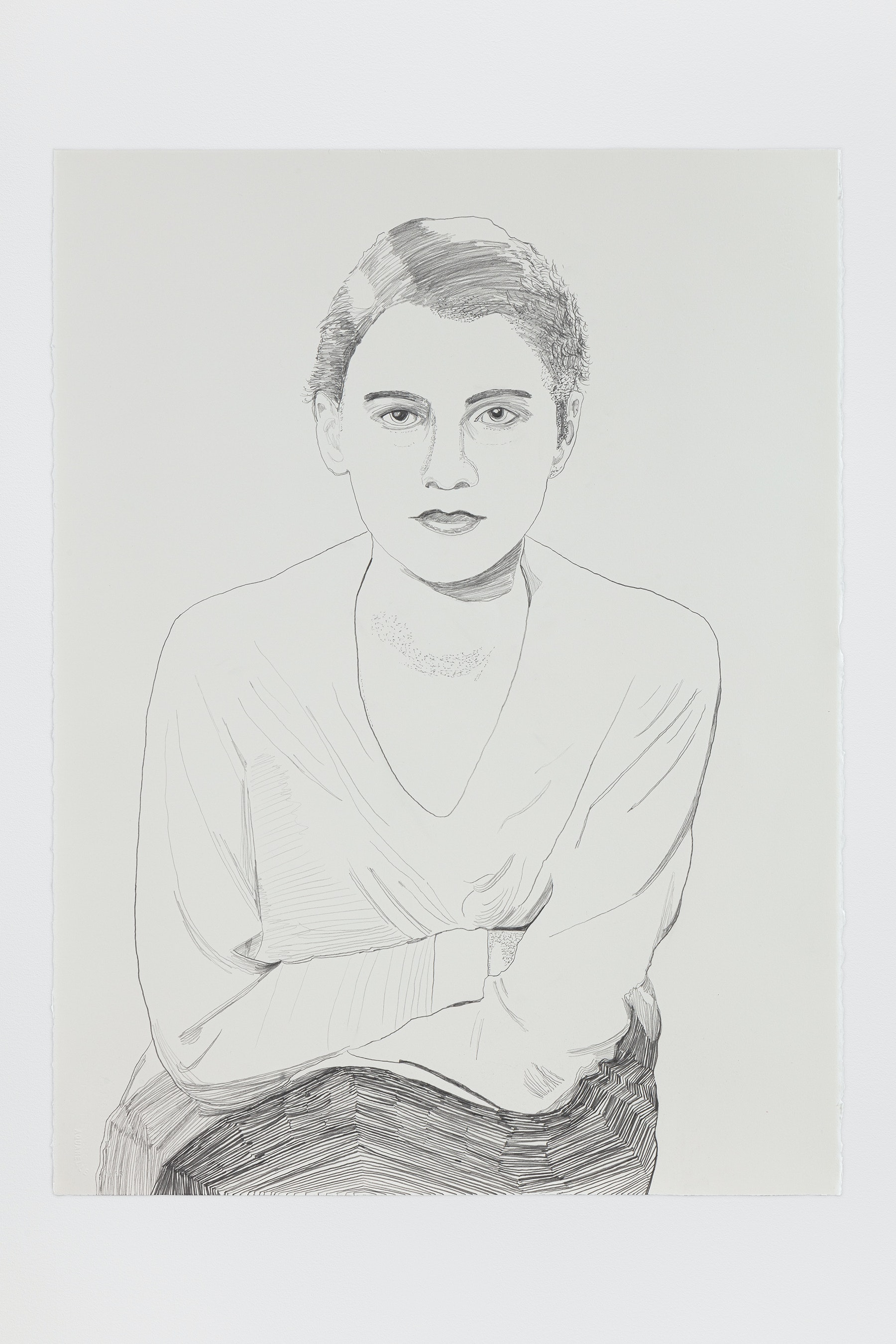 "Whitney Bedford ""Lee Miller,"" 2020 Graphite on Arches Paper 30 x 22"" [HxW] (76.2 x 55.88 cm) Inventory #BED384 Courtesy of the artist and Vielmetter Los Angeles Photo credit: Evan Bedford"