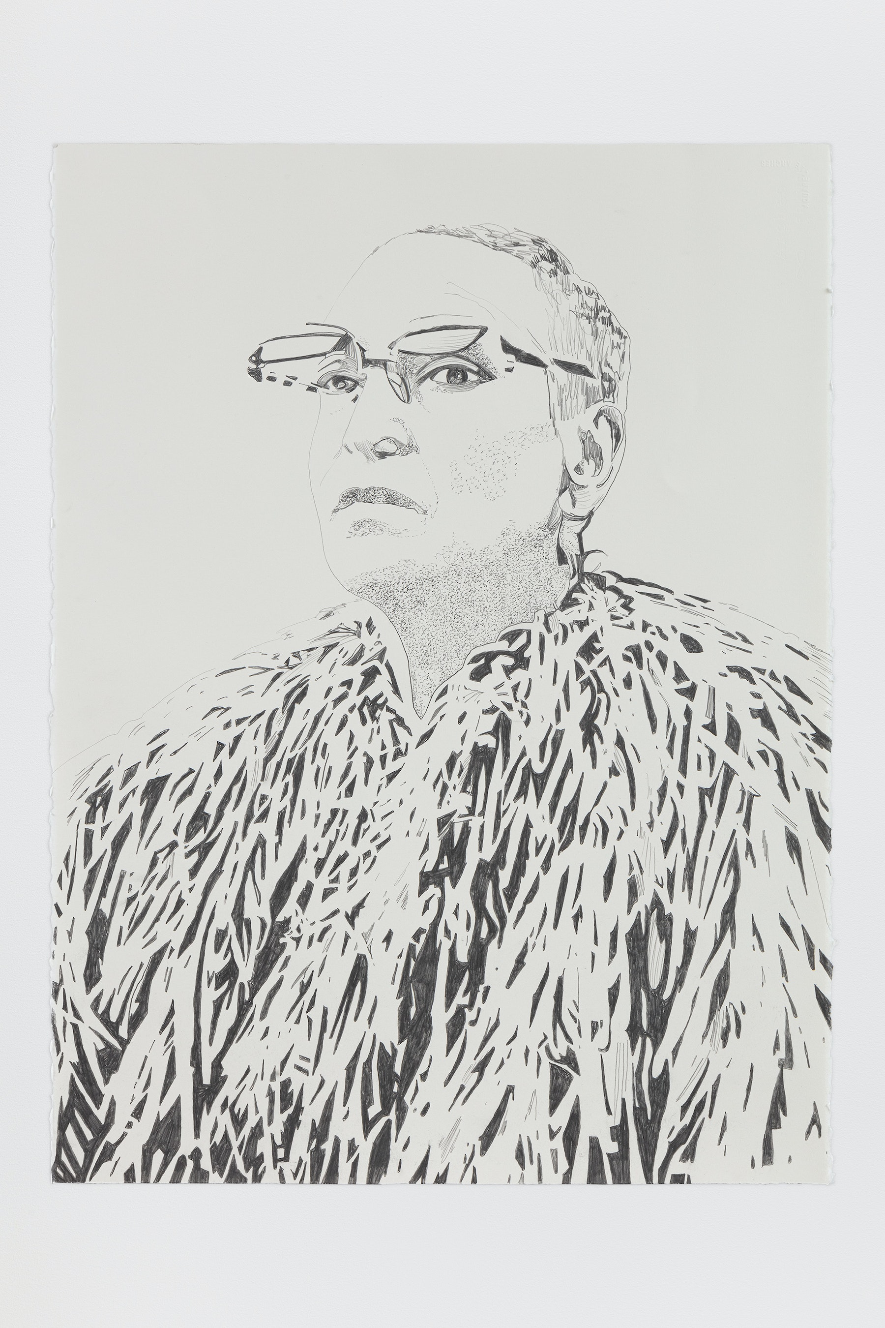 "Whitney Bedford ""Méret Oppenheim,"" 2020 Graphite on Arches Paper 30 x 22"" [HxW] (76.2 x 55.88 cm) Inventory #BED386 Courtesy of the artist and Vielmetter Los Angeles Photo credit: Evan Bedford"