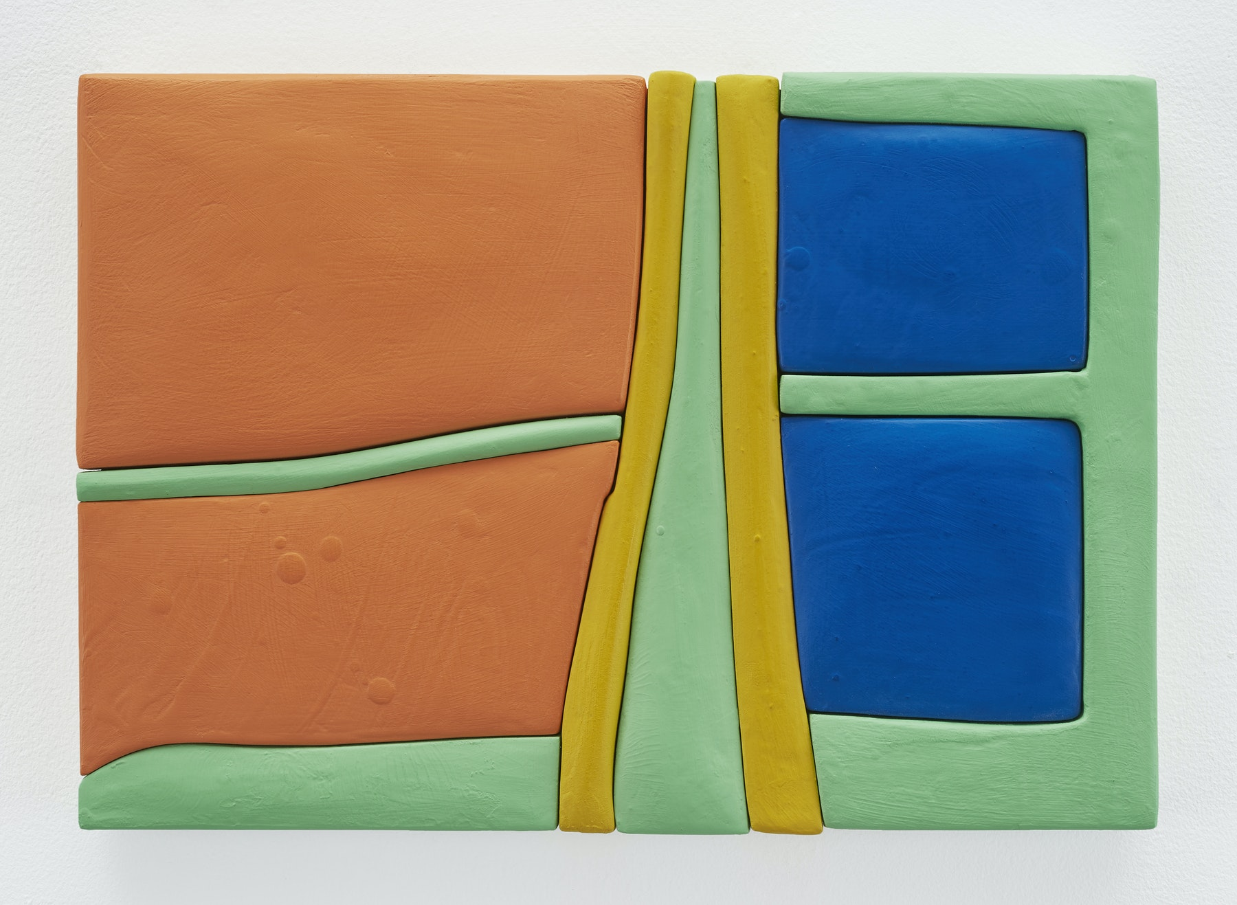 "Sadie Benning ""Untitled 11x16 (QQ),"" 2019 Wood, aqua resin, casein, and acrylic gouache 11 x 16"" [HxW] (27.94 x 40.64 cm) Inventory #BEN844 Courtesy of the artist and Vielmetter Los Angeles Photocredit: Chris Austin"