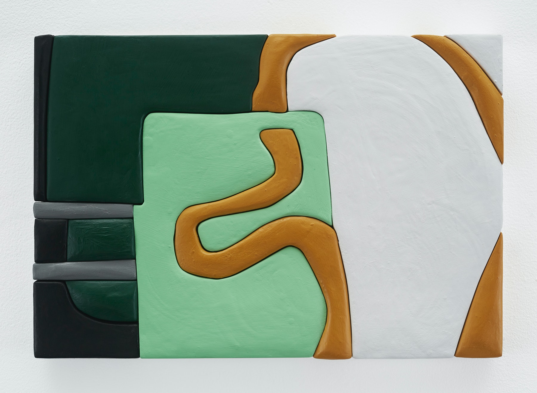 "Sadie Benning ""Untitled 11x16 (TT),"" 2019 Wood, aqua resin, casein, and acrylic gouache 11 x 16"" [HxW] (27.94 x 40.64 cm) Inventory #BEN847 Courtesy of the artist and Vielmetter Los Angeles Photocredit: Chris Austin"