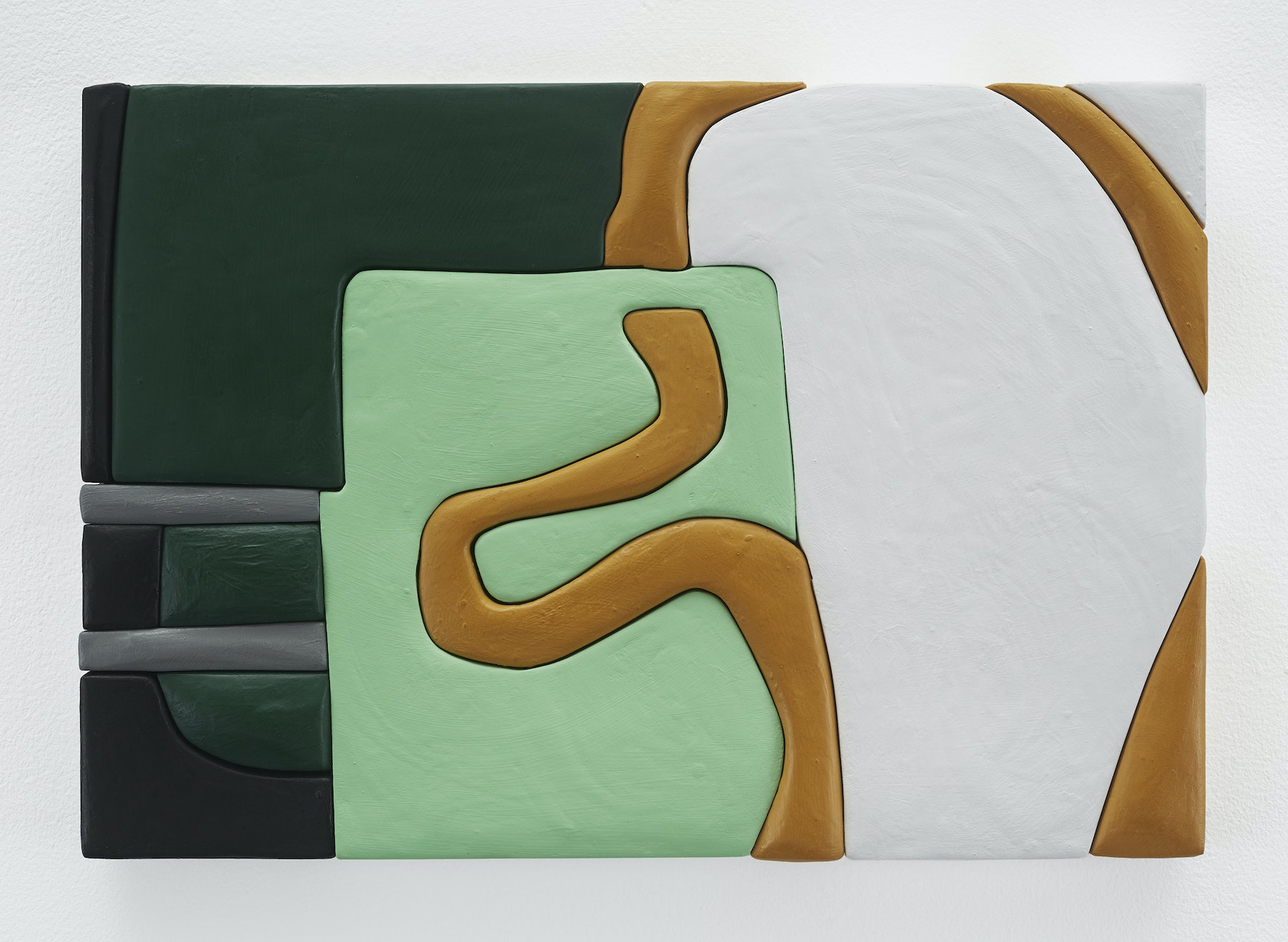 "Sadie Benning ""Untitled 11x16 (TT),"" 2019 Wood, aqua resin, casein, and acrylic gouache 11 x 16"" [HxW] (27.94 x 40.64 cm) Inventory #BEN847 Courtesy of the artist and Vielmetter Los Angeles Photocredit: Chris Austin"