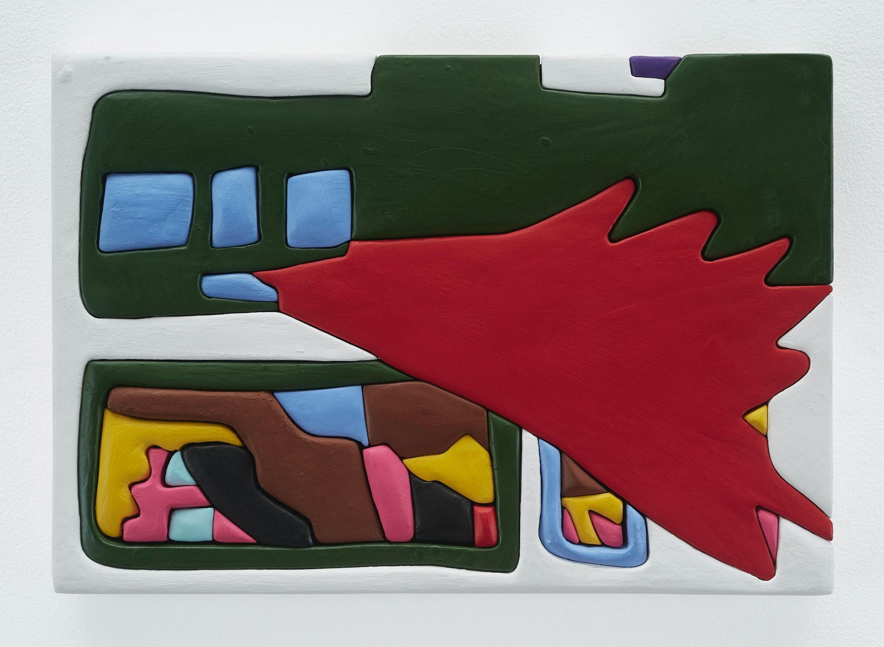 "Sadie Benning ""Untitled 11x16 (WW),"" 2019 Wood, aqua resin, casein, and acrylic gouache 11 x 16"" [HxW] (27.94 x 40.64 cm) Inventory #BEN850 Courtesy of the artist and Vielmetter Los Angeles Photocredit: Chris Austin"