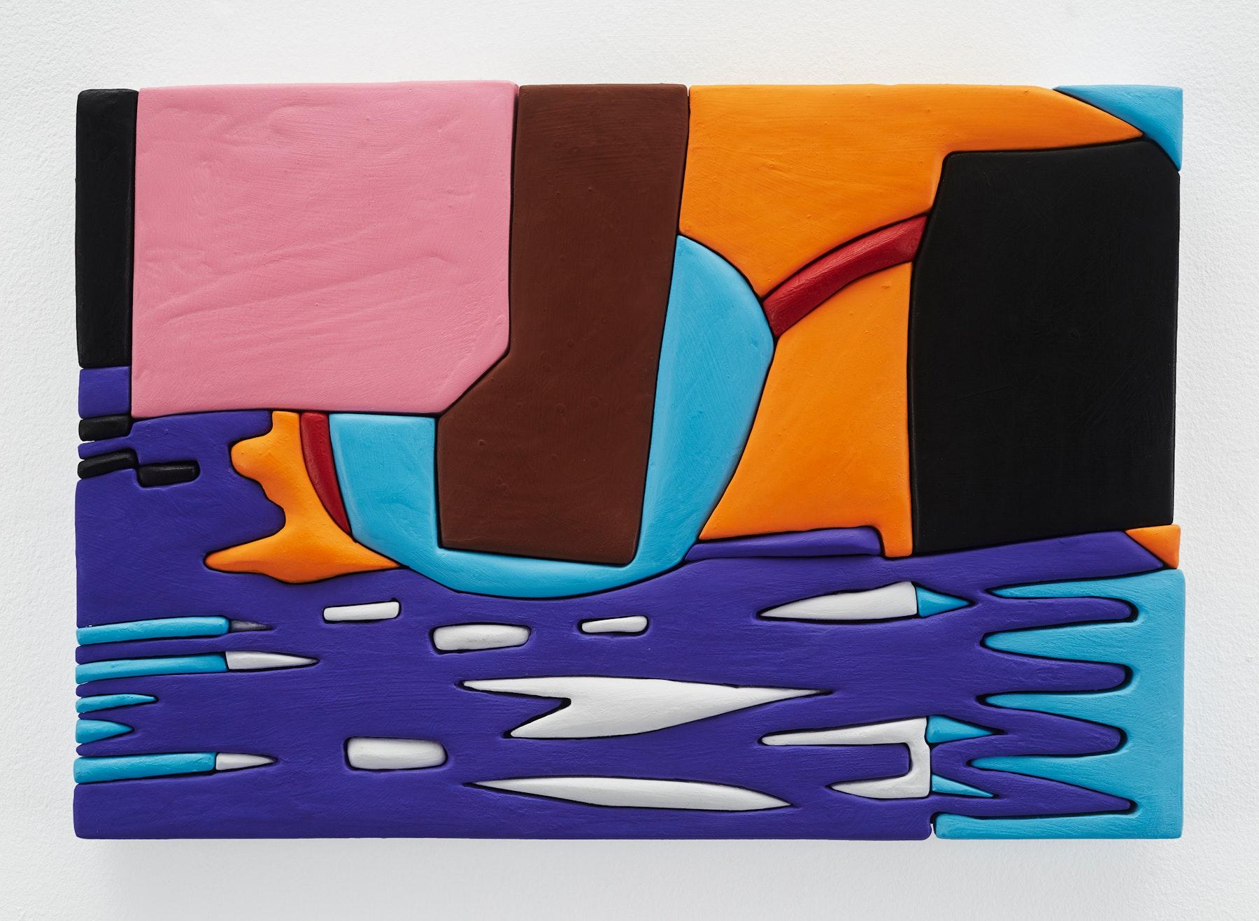 "Sadie Benning ""Untitled 11x16 (XX),"" 2019 Wood, aqua resin, casein, and acrylic gouache 11 x 16"" [HxW] (27.94 x 40.64 cm) Inventory #BEN851 Courtesy of the artist and Vielmetter Los Angeles Photocredit: Chris Austin"
