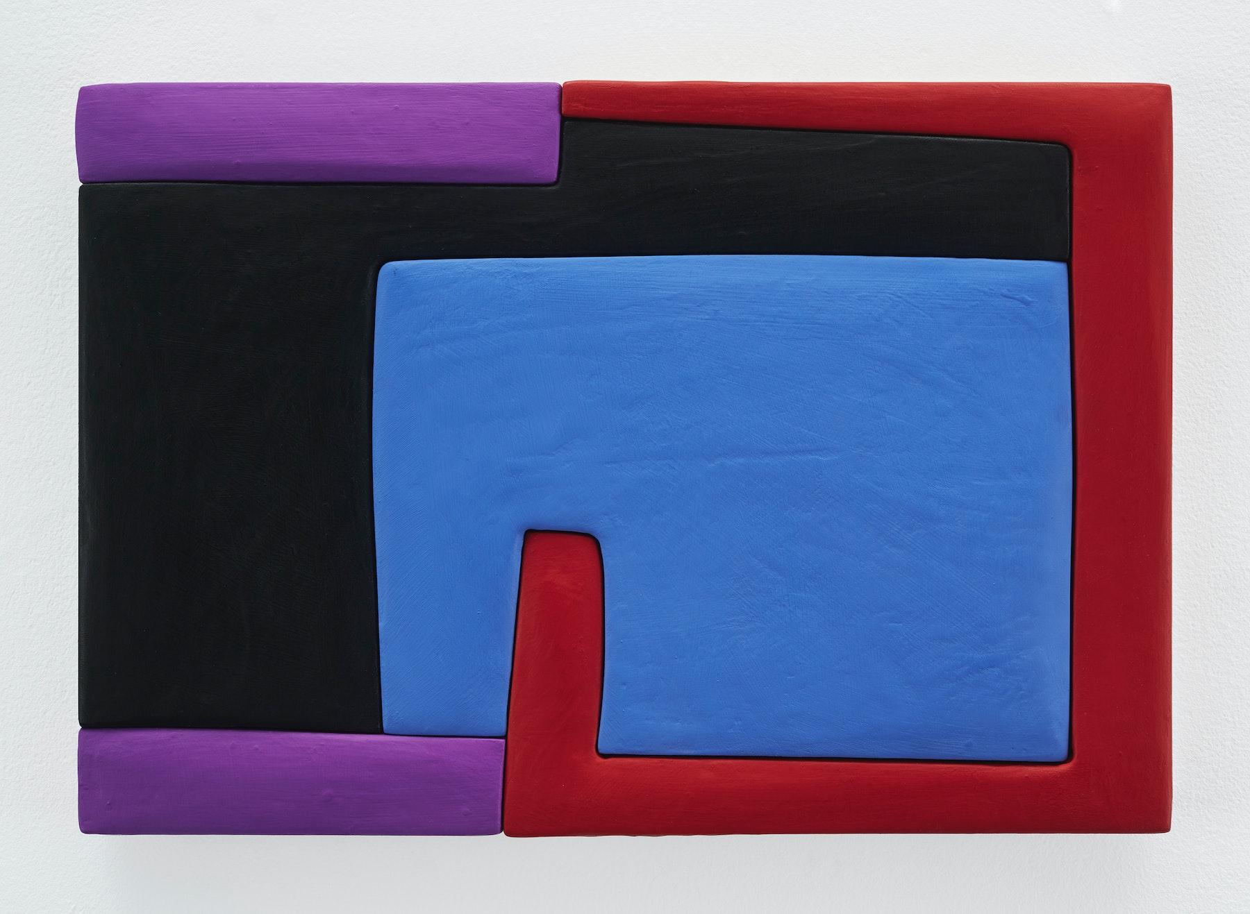 "Sadie Benning ""Untitled 11x16 (ZZ),"" 2019 Wood, aqua resin, casein, and acrylic gouache 11 x 16"" [HxW] (27.94 x 40.64 cm) Inventory #BEN853 Courtesy of the artist and Vielmetter Los Angeles Photocredit: Chris Austin"