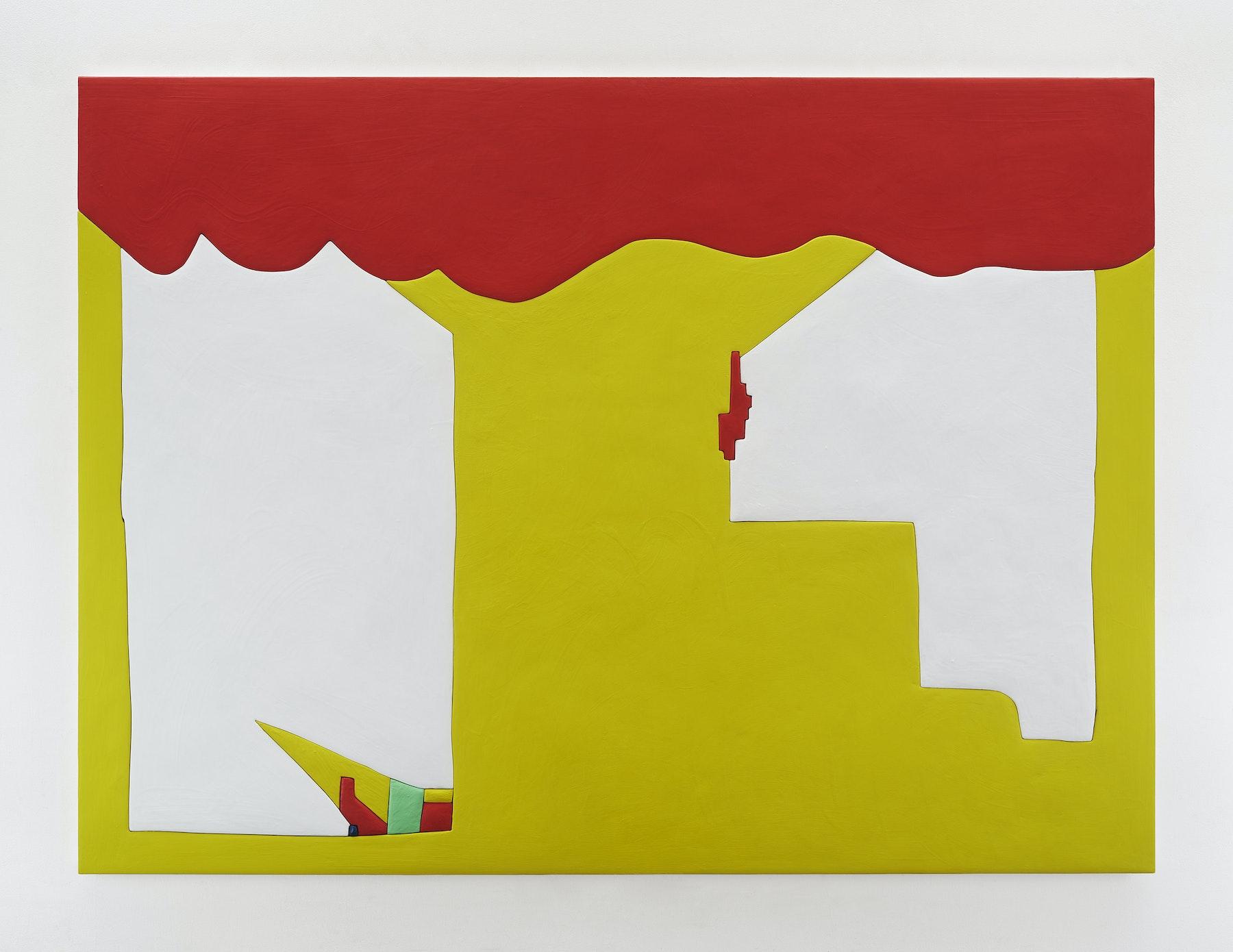 "Sadie Benning ""Tree,"" 2019 Wood, aqua resin, casein, and acrylic gouache 59 x 80"" [HxW] (149.86 x 203.2 cm) Inventory #BEN857 Courtesy of the artist and Vielmetter Los Angeles Photocredit: Chris Austin"
