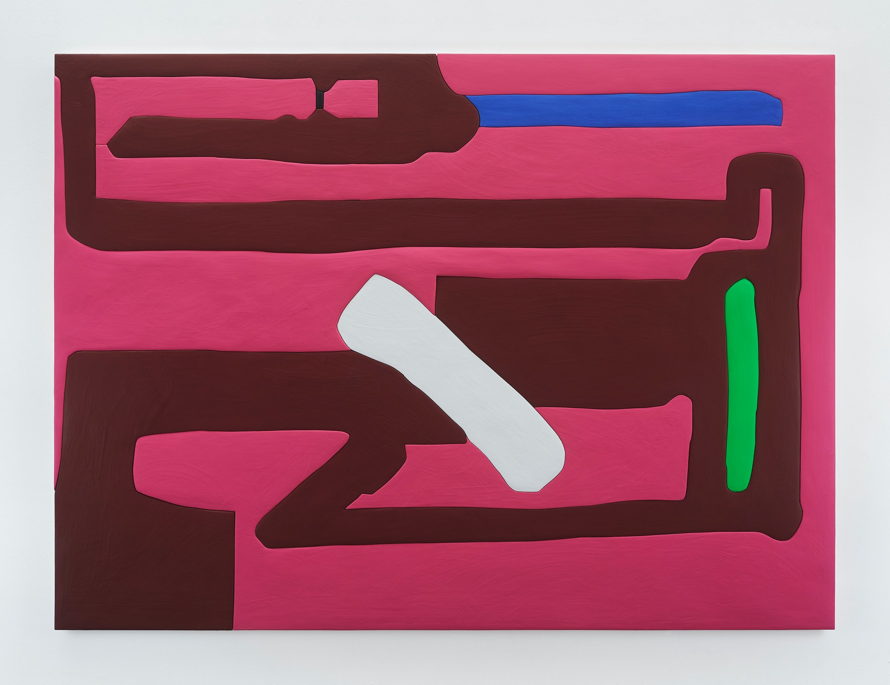 "Sadie Benning ""Untitled 4,"" 2019 Wood, aqua resin, casein, and acrylic gouache 59 x 80"" [HxW] (149.86 x 203.2 cm) Inventory #BEN858 Courtesy of the artist and Vielmetter Los Angeles Photocredit: Chris Austin"