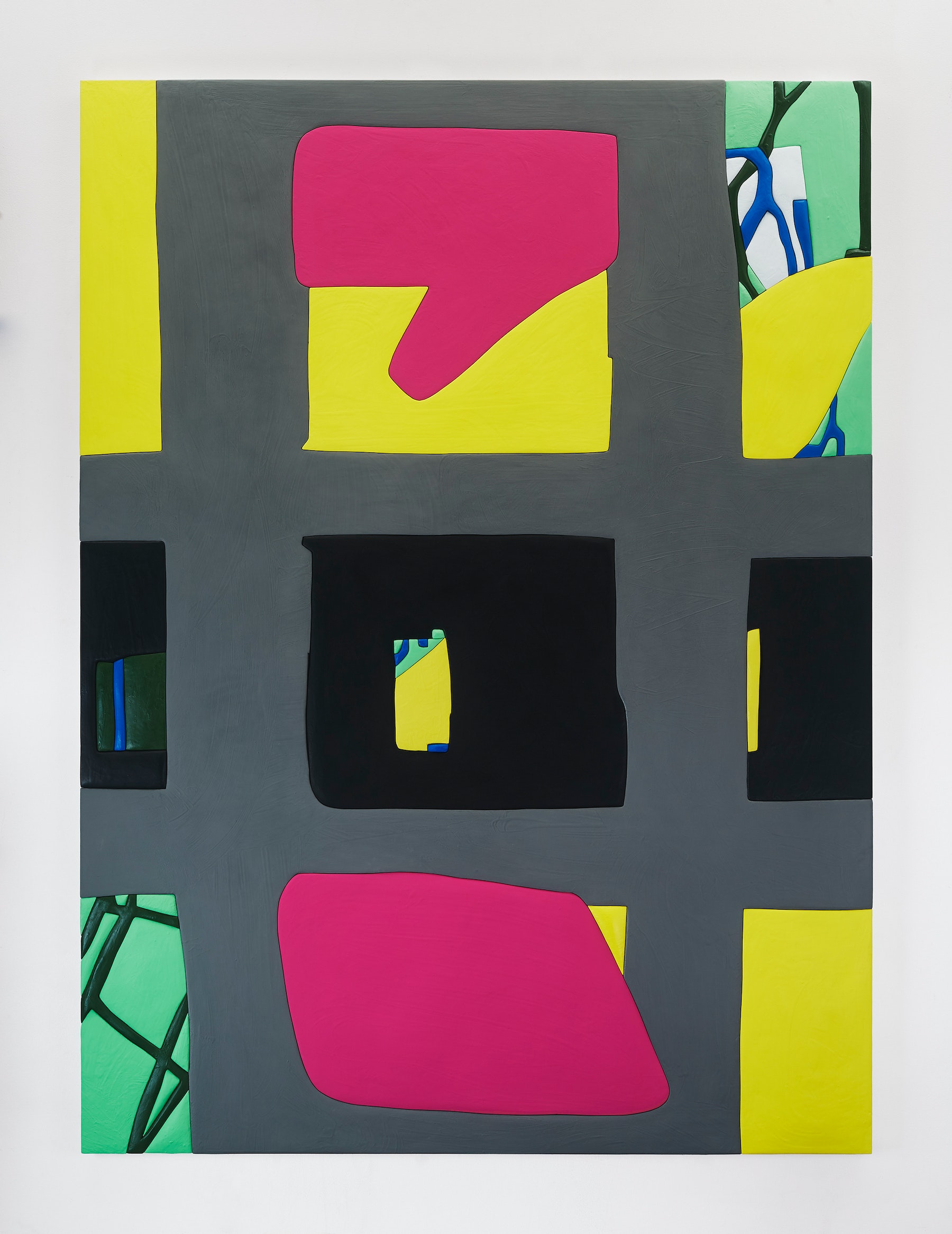 "Sadie Benning ""Untitled 6,"" 2019 Wood, aqua resin, casein, and acrylic gouache 80 x 59"" [HxW] (203.2 x 149.86 cm) Inventory #BEN860 Courtesy of the artist and Vielmetter Los Angeles Photocredit: Chris Austin"