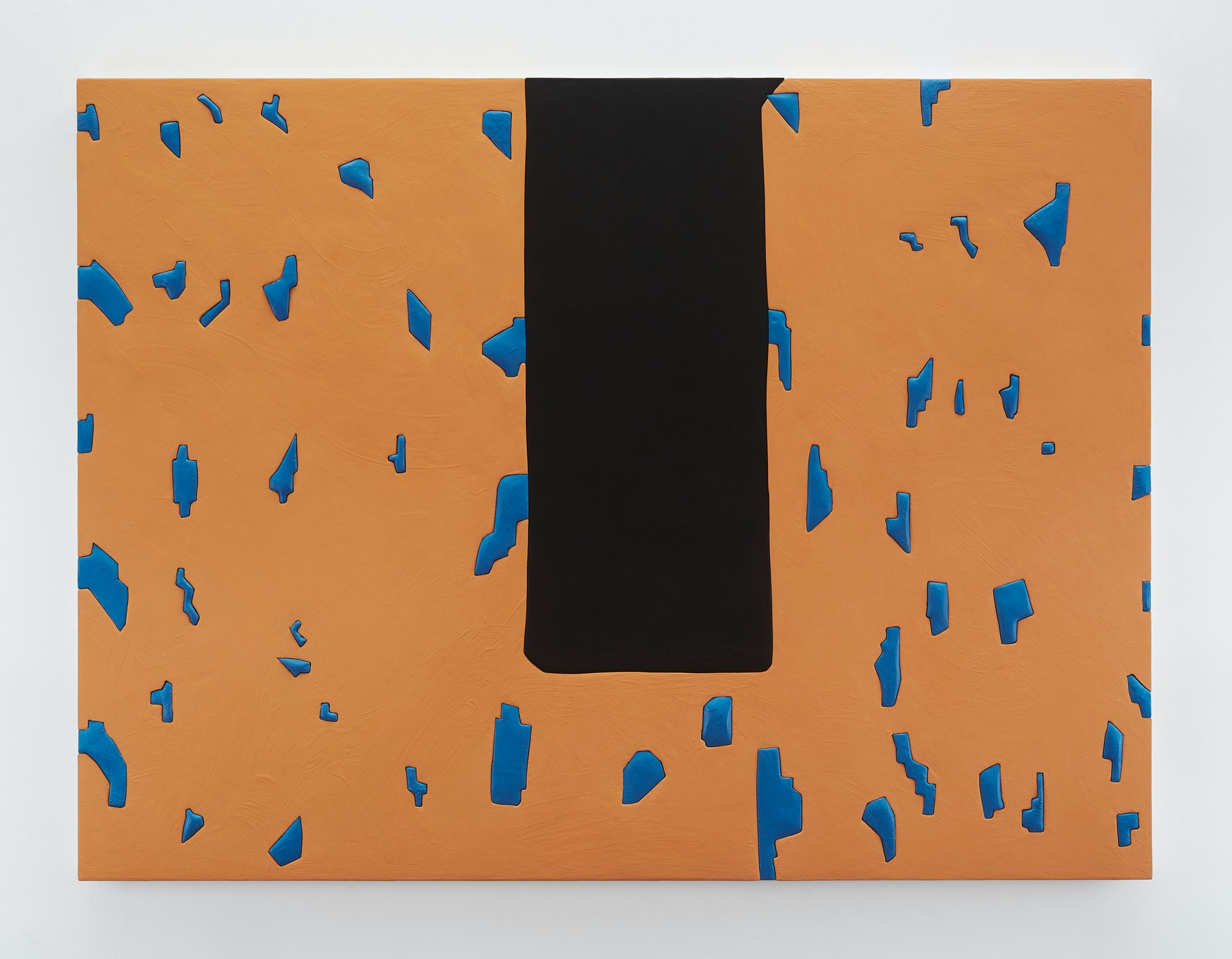 "Sadie Benning ""Untitled 7,"" 2019 Wood, aqua resin, casein, and acrylic gouache 53 x 71"" [HxW] (134.62 x 180.34 cm) Inventory #BEN861 Courtesy of the artist and Vielmetter Los Angeles Photocredit: Chris Austin"