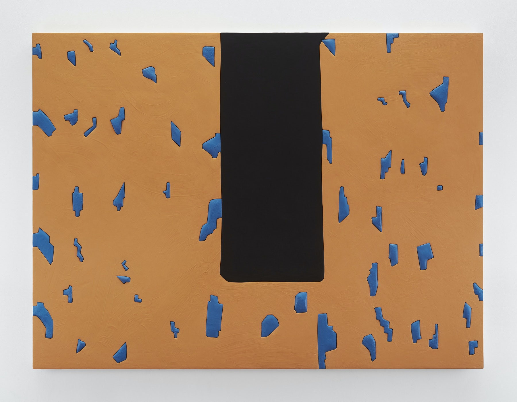 """Sadie Benning """"Untitled 7,"""" 2019 Wood, aqua resin, casein, and acrylic gouache 53 x 71"""" [HxW] (134.62 x 180.34 cm) Inventory #BEN861 Courtesy of the artist and Vielmetter Los Angeles Photocredit: Chris Austin"""