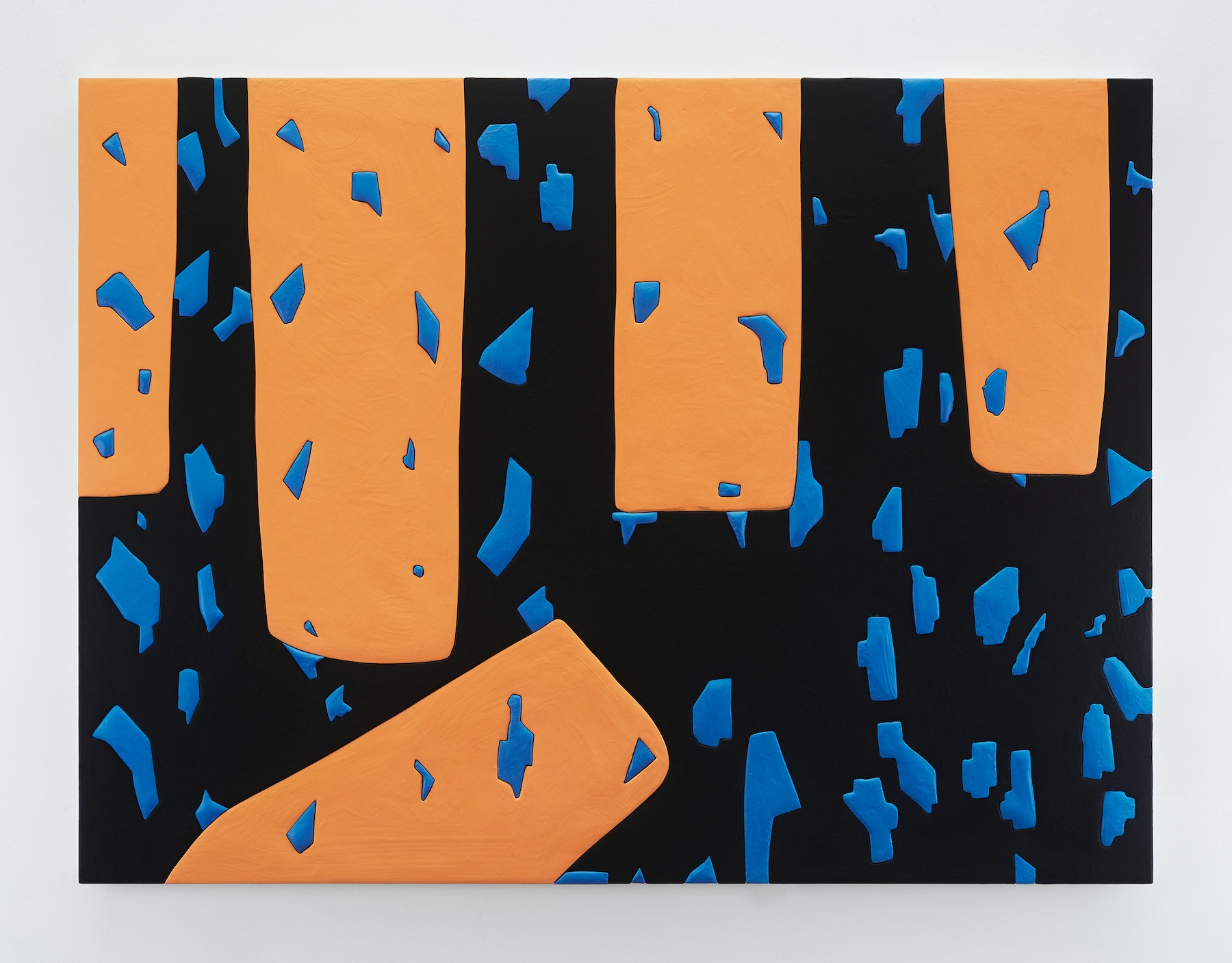 "Sadie Benning ""Untitled 8,"" 2019 Wood, aqua resin, casein, and acrylic gouache 53 x 71"" [HxW] (134.62 x 180.34 cm) Inventory #BEN862 Courtesy of the artist and Vielmetter Los Angeles Photocredit: Chris Austin"