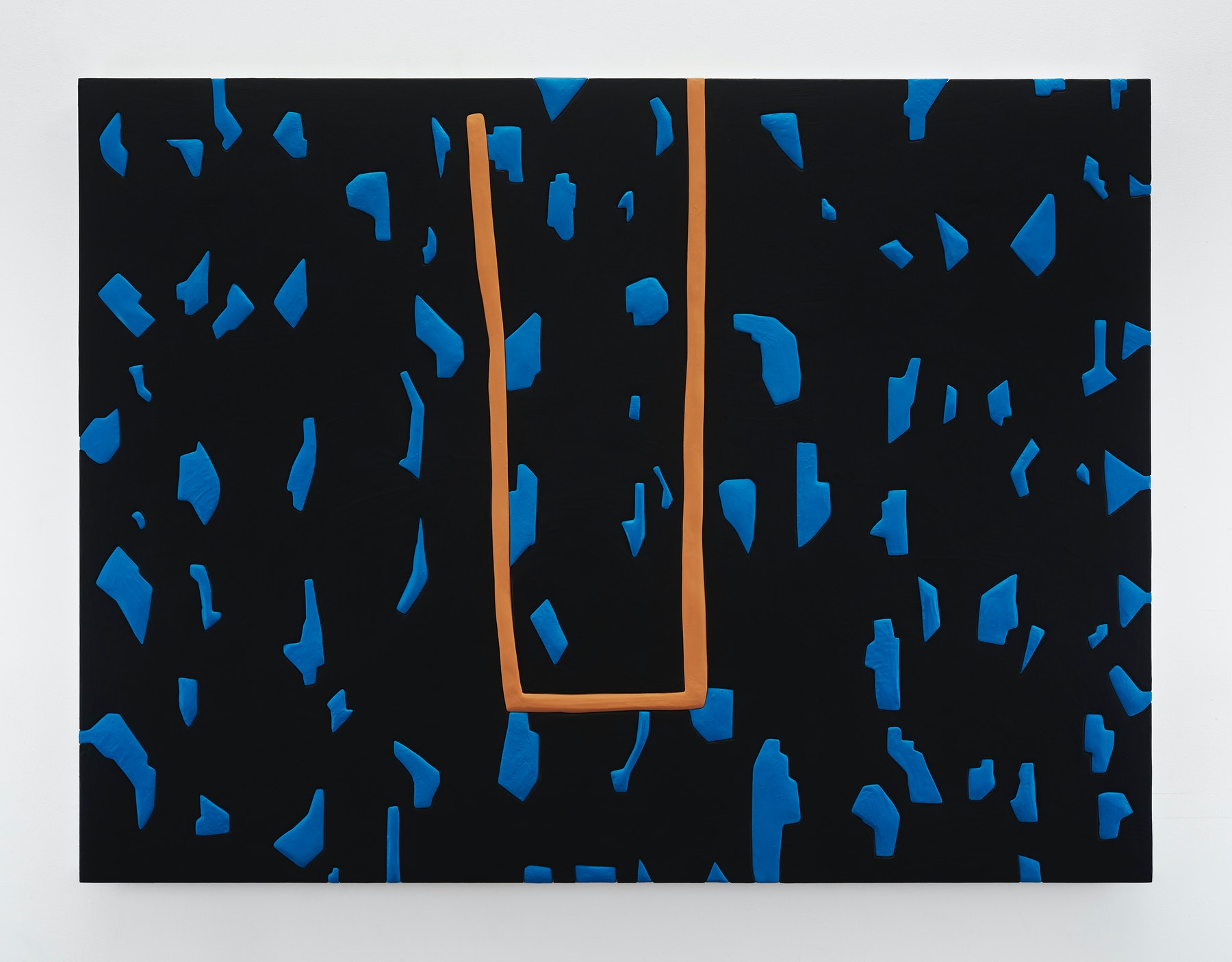 "Sadie Benning ""Untitled 9,"" 2019 Wood, aqua resin, casein, and acrylic gouache 53 x 71"" [HxW] (134.62 x 180.34 cm) Inventory #BEN863 Courtesy of the artist and Vielmetter Los Angeles Photocredit: Chris Austin"