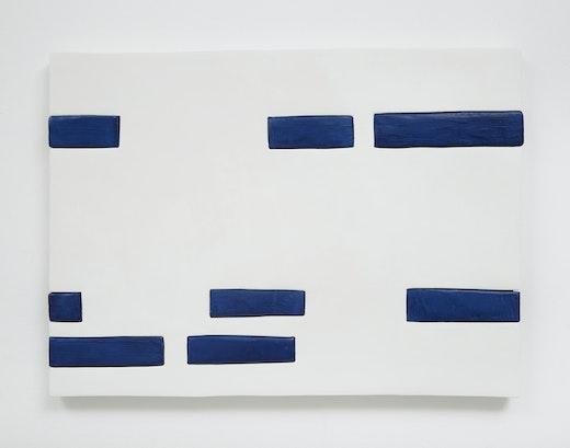 """Sadie Benning """"Blue and White Dashes,"""" 2014"""