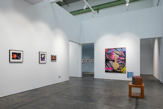 "Ellen Berkenblit Installation view, ""True Blue Mirror: Ellen Berkenblit and Sarah Braman"" (February 8 – May 4, 2019), McEvoy Foundation for the Arts, San Francisco, CA"