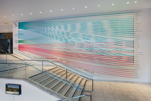 This is an artwork titled Installation view, Hammer Museum, Los Angeles, March 11-July 16 by artist Hammer Projects: Andrea Bowers made in 2017