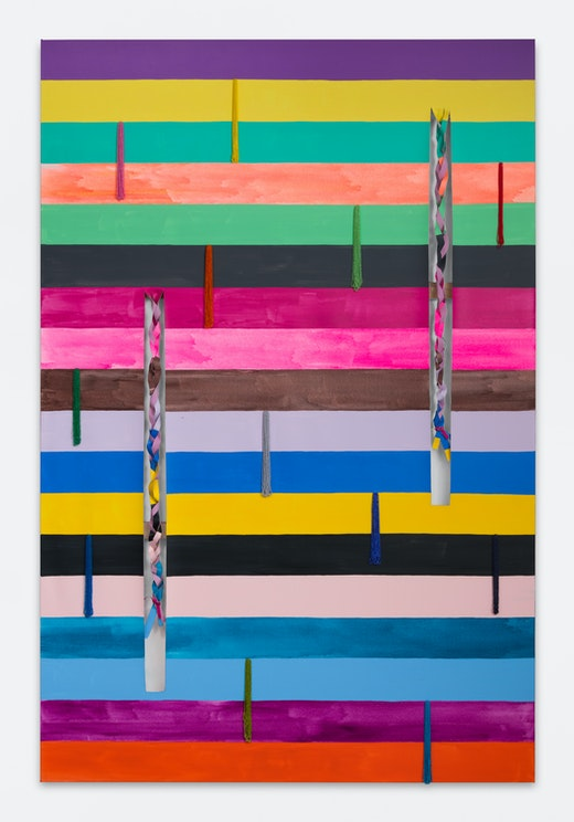 """Sarah Cain """"braids and tassels,"""" 2018"""