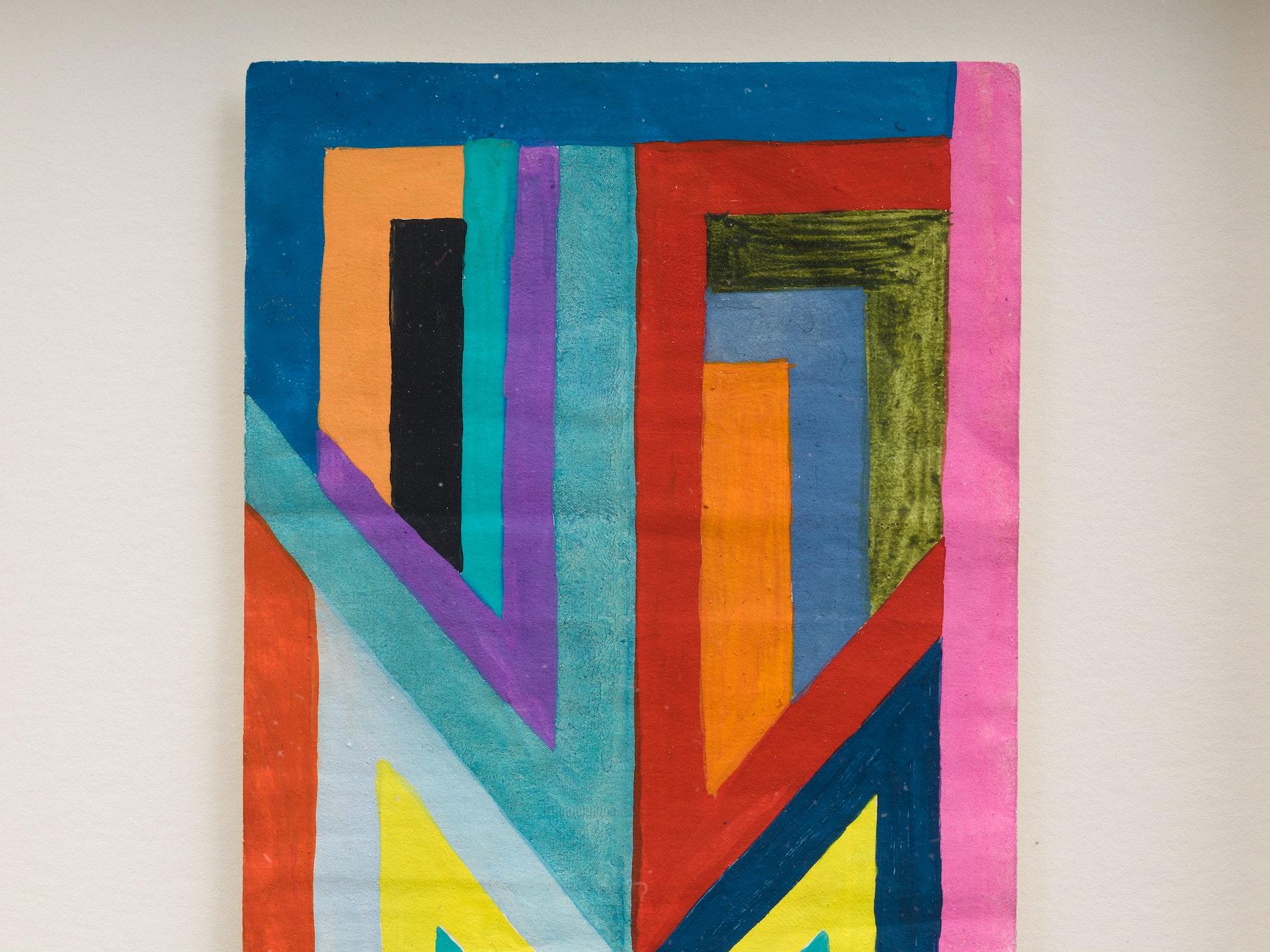 "Sarah Cain ""$ talisman,"" 2021 Acrylic on dollar bill 9 ¹⁄₂"" x 6 ¹⁄₄"" x 1 ³⁄₄"" [HxWxD] (24.13 x 15.85 x 4.45 cm) Inventory #CAS156 Courtesy of the artist and Vielmetter Los Angeles Photo credit: Jeff McLane"