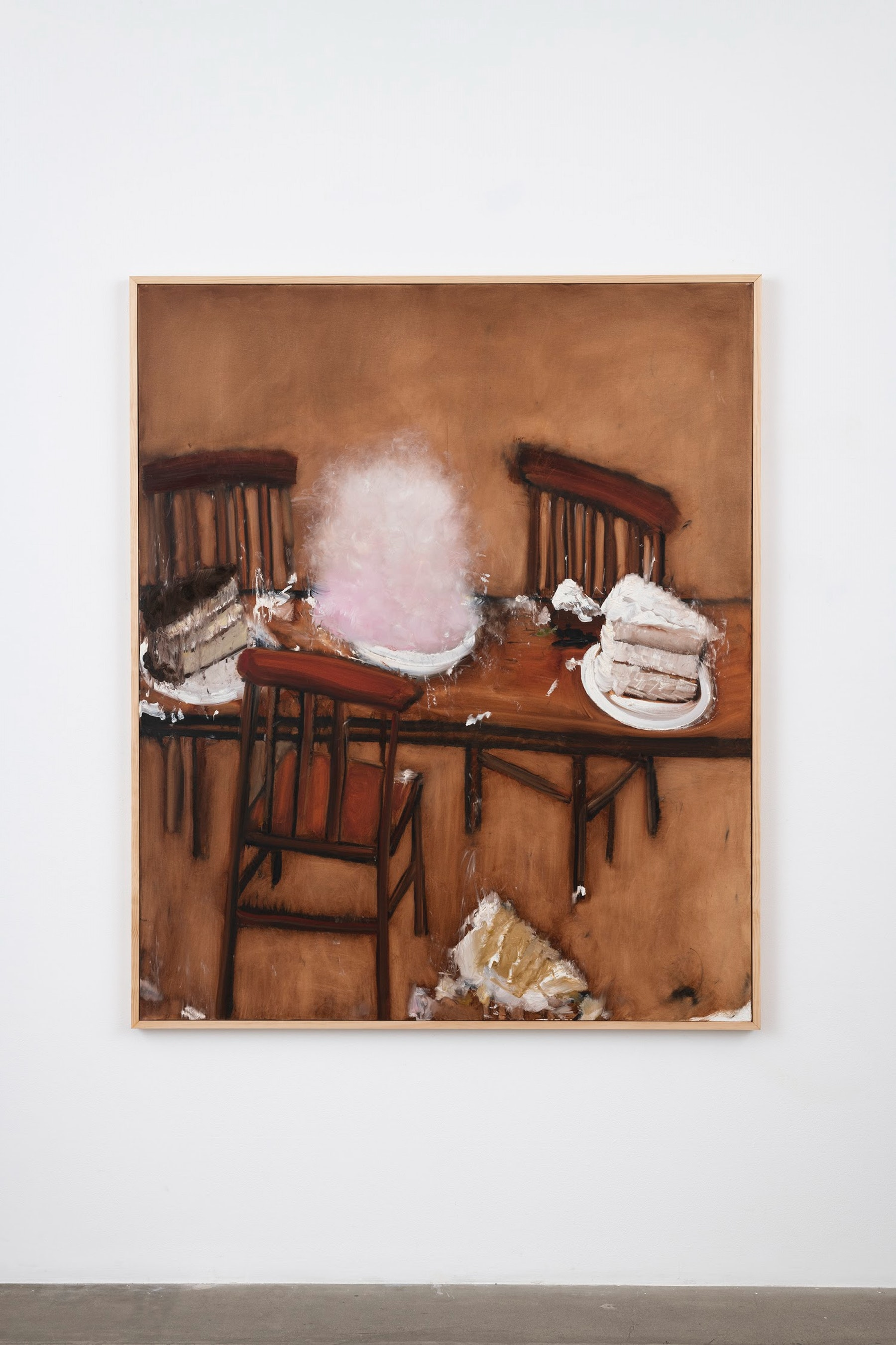 """Kim Dingle """"Cotton Candy,"""" 2007 Oil on canvas 73.5 x 61.5 x 1.5"""" [HxWxD] (186.69 x 156.21 x 3.81 cm) Inventory #DIN256 Courtesy of the artist and Vielmetter Los Angeles Photo credit: Jeff McLane"""