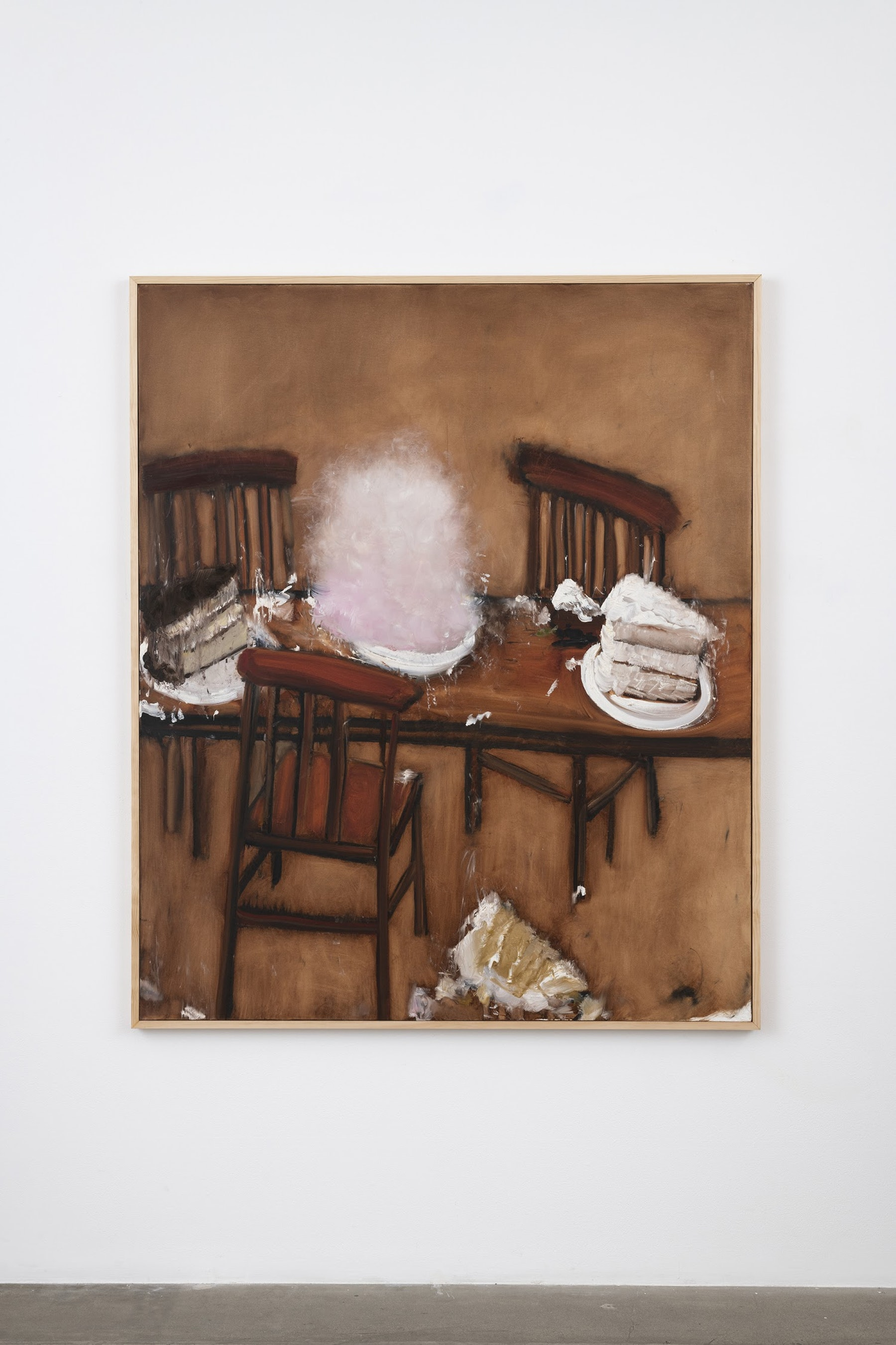 "Kim Dingle ""Cotton Candy,"" 2007 Oil on canvas 73.5 x 61.5 x 1.5"" [HxWxD] (186.69 x 156.21 x 3.81 cm) Inventory #DIN256 Courtesy of the artist and Vielmetter Los Angeles Photo credit: Jeff McLane"