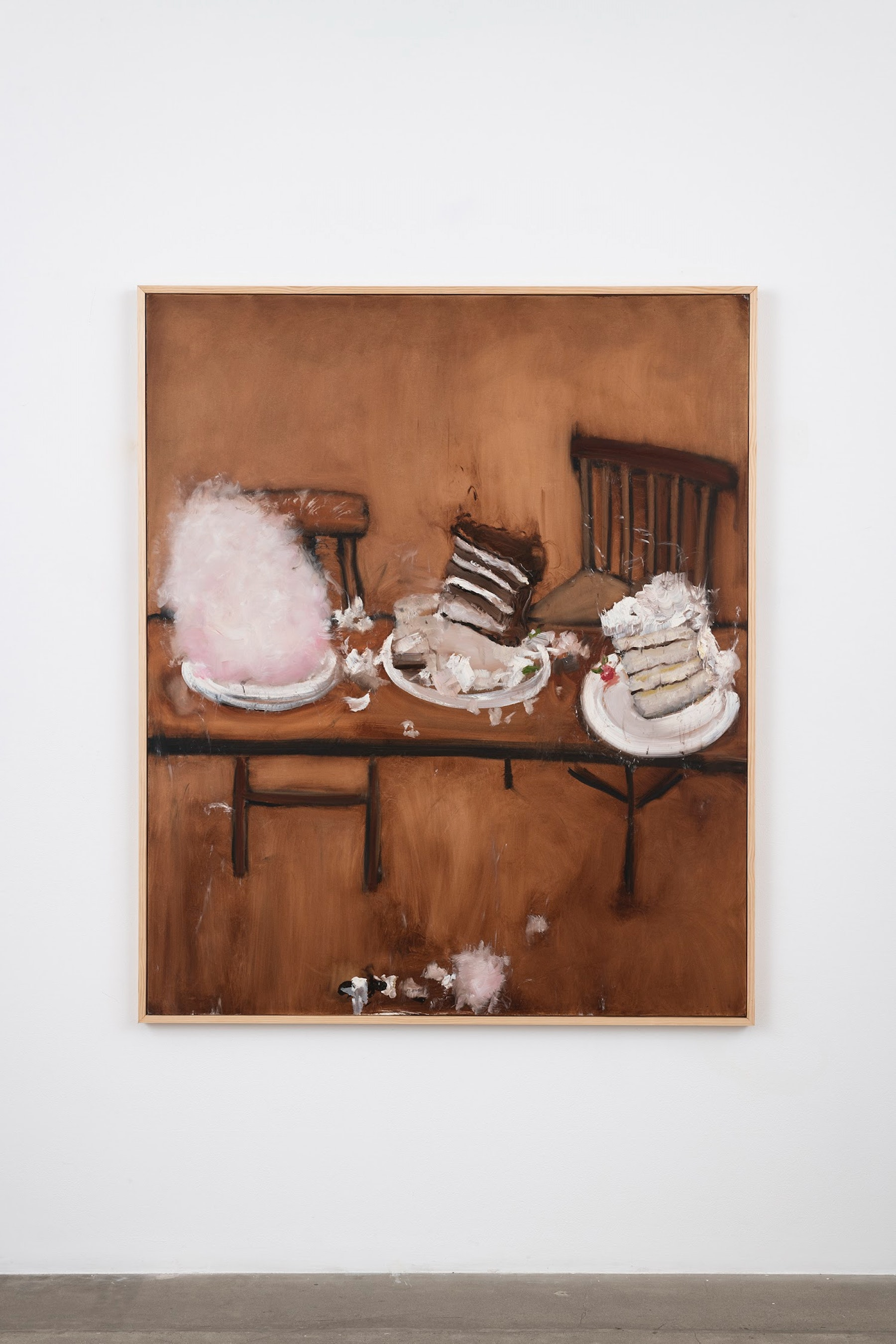 """Kim Dingle """"And Cake,"""" 2007 Oil on canvas 73.5 x 61.5 x 1.5"""" [HxWxD] (186.69 x 156.21 x 3.81 cm) Inventory #DIN257 Courtesy of the artist and Vielmetter Los Angeles Photo credit: Jeff McLane"""