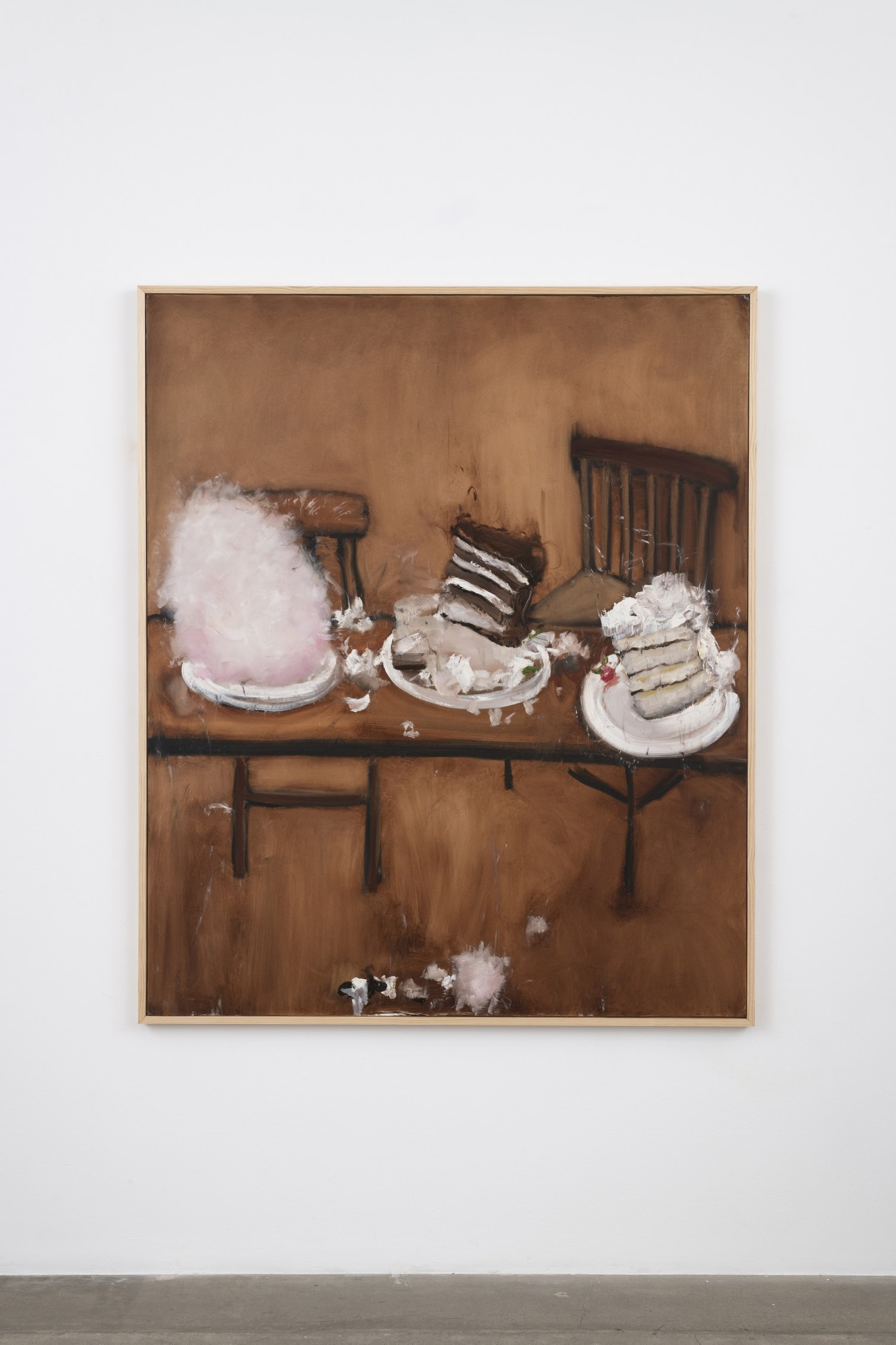 "Kim Dingle ""And Cake,"" 2007 Oil on canvas 73.5 x 61.5 x 1.5"" [HxWxD] (186.69 x 156.21 x 3.81 cm) Inventory #DIN257 Courtesy of the artist and Vielmetter Los Angeles Photo credit: Jeff McLane"