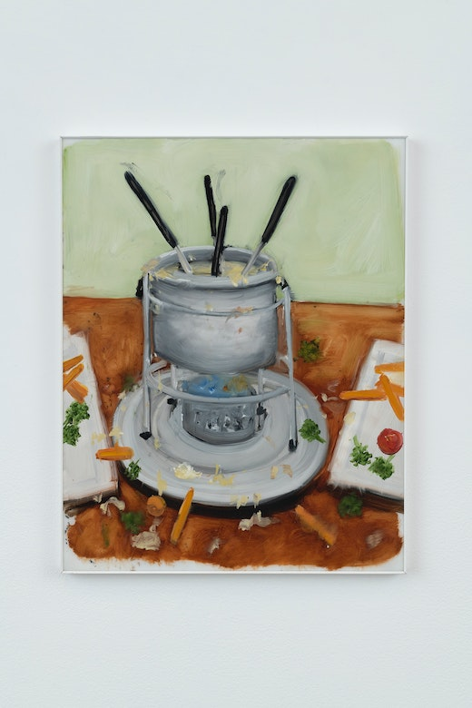 This is an artwork titled Lambchopper Cheese Fondue by artist Kim Dingle made in 2007