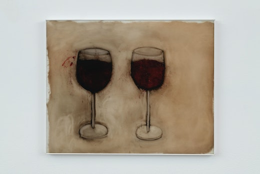 This is an artwork titled Cab/Pinot by artist Kim DIngle made in 2007