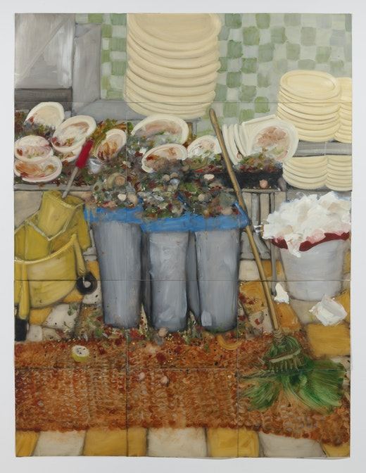 This is an artwork titled The Lost Supper (general maintenance) by artist Kim Dingle made in 2006