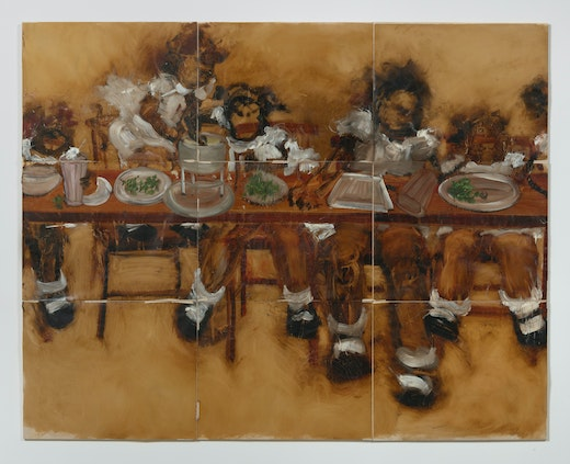 This is an artwork titled The Lost Supper (cherry rickey) by artist Kim Dingle made in 2007
