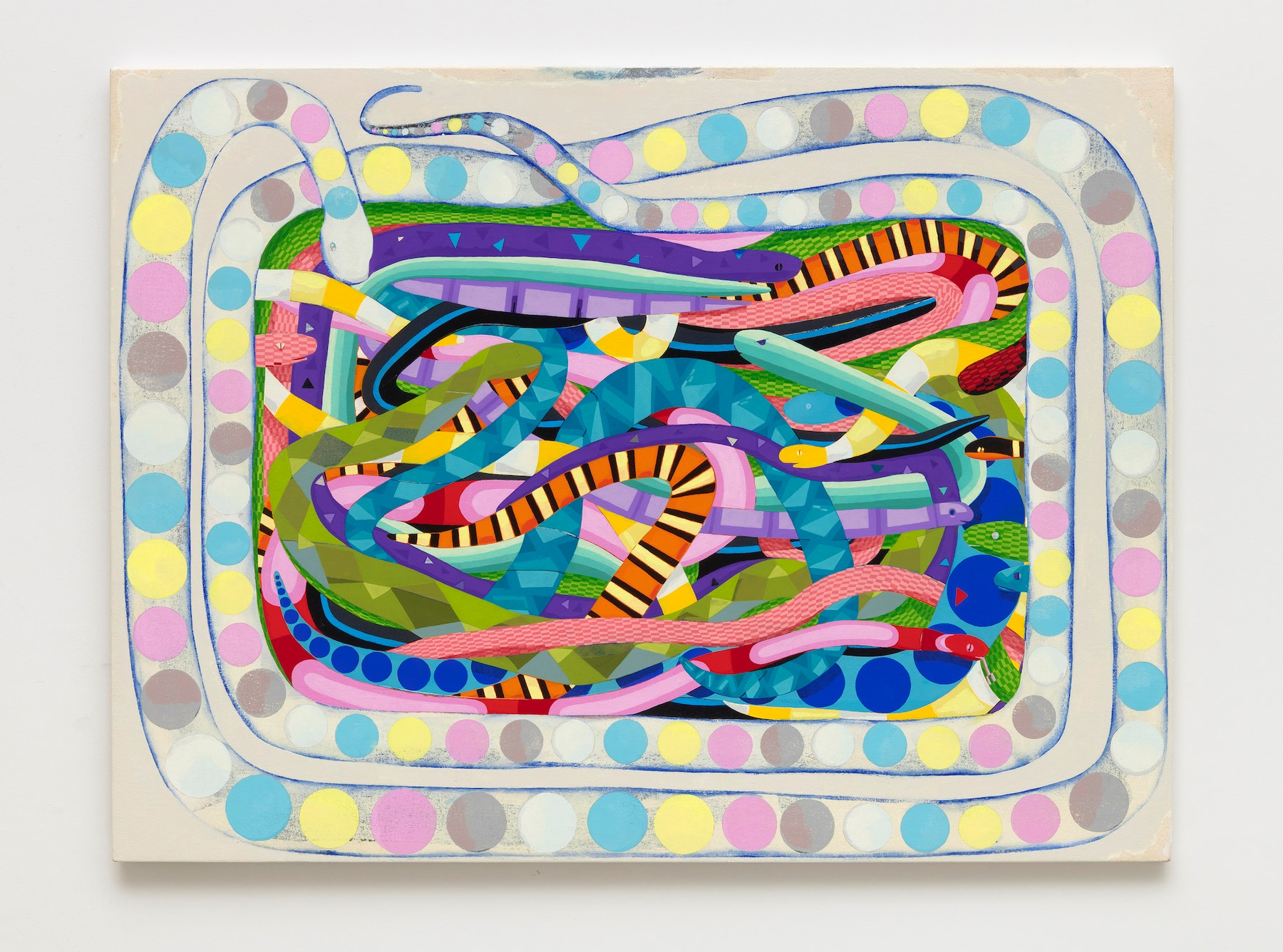 """Brad Eberhard """"Color Printer,"""" 2020 Oil on canvas over panel 36 x 48"""" [HxW] (91.44 x 121.92 cm) Inventory #EBE160 Courtesy of the artist and Vielmetter Los Angeles Photo credit: Robert Wedemeyer"""